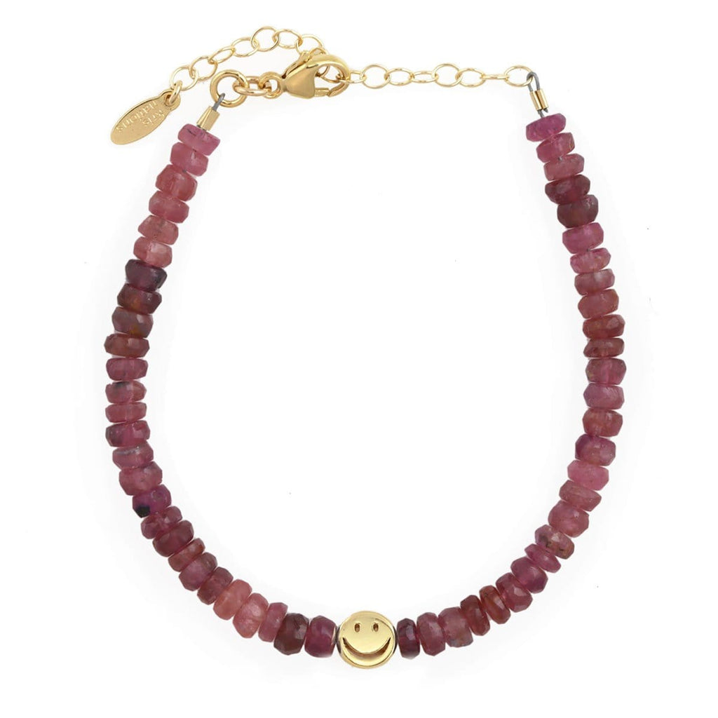 Pink Tourmaline Happy Bracelet