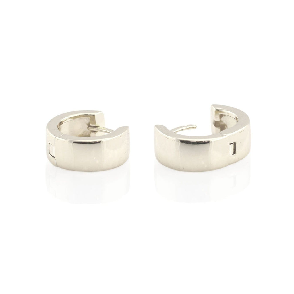 Wide Hinged Huggie Hoop Earrings