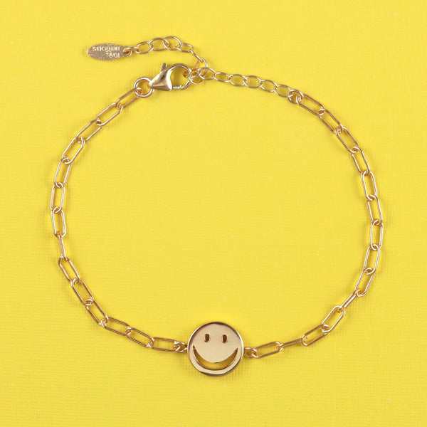 Smiley Chain Bracelet