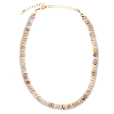 Pink Opal Beaded Necklace