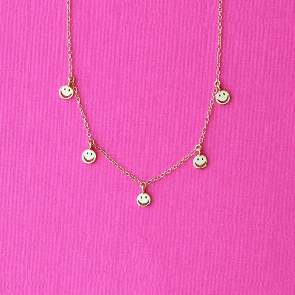 Happy Face Chain Necklace