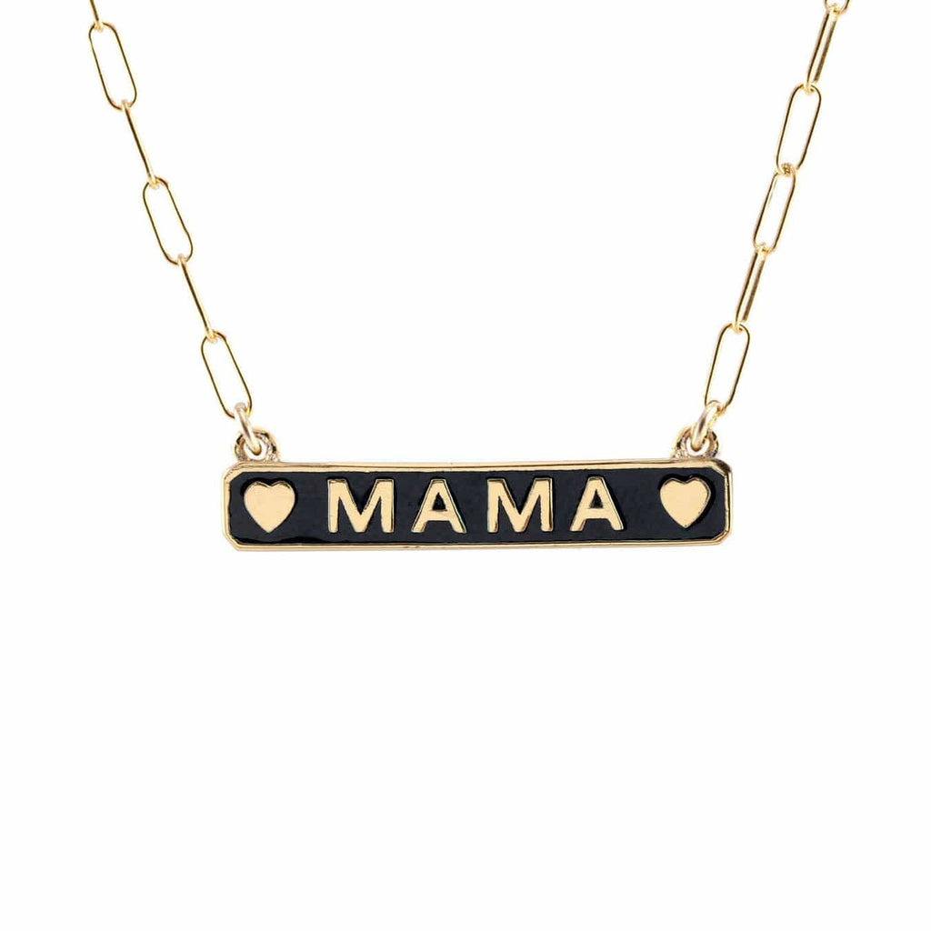 Mama Enamel ID Necklace