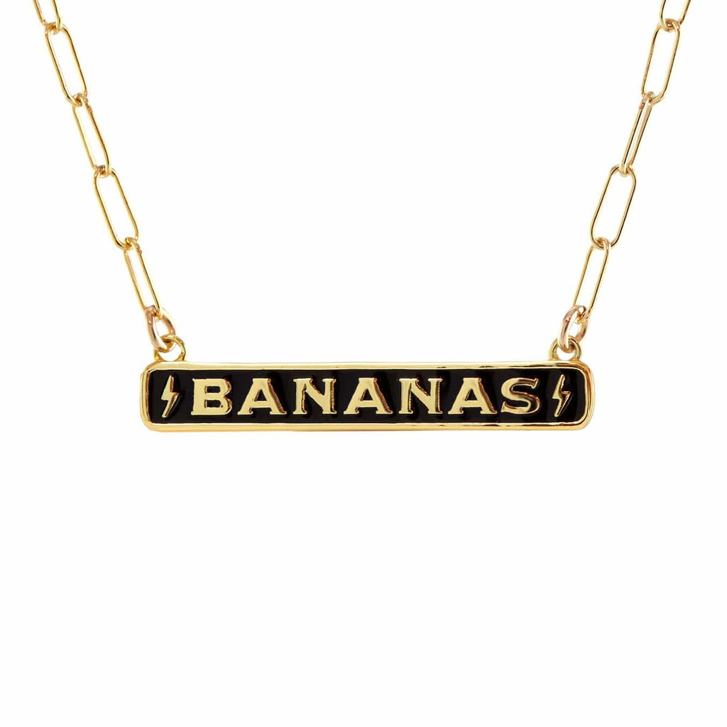 Bananas Enamel ID Necklace