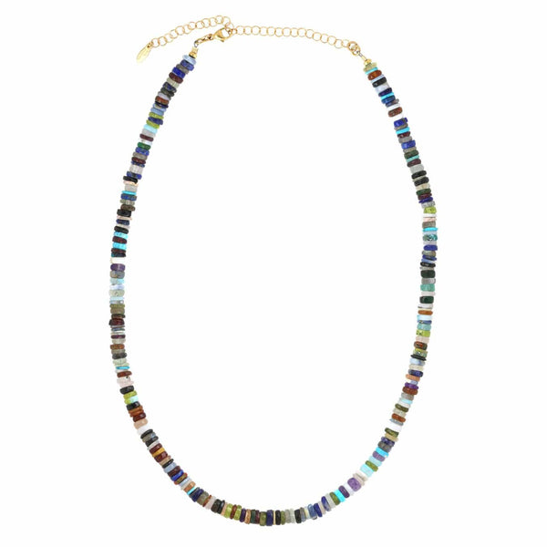 All The Gems Beaded  Necklace