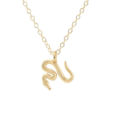 Snake Charm Necklace 18K Gold Vermeil