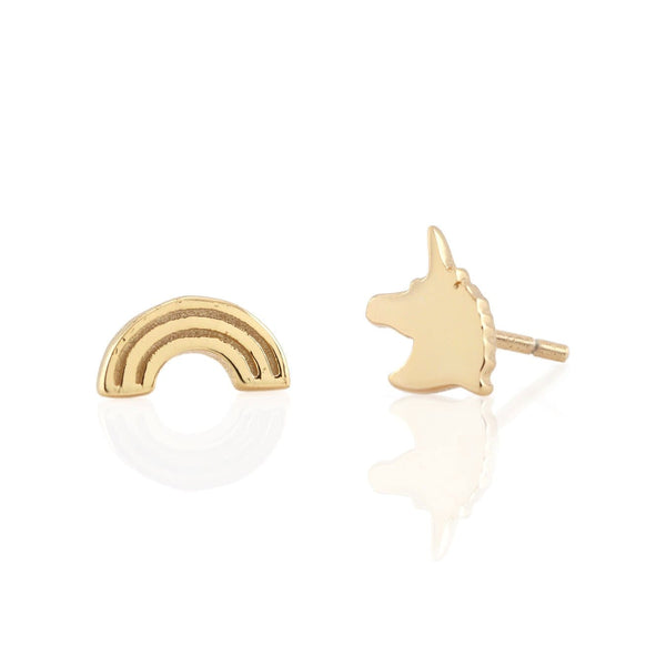 Rainbow Unicorn Stud Earrings