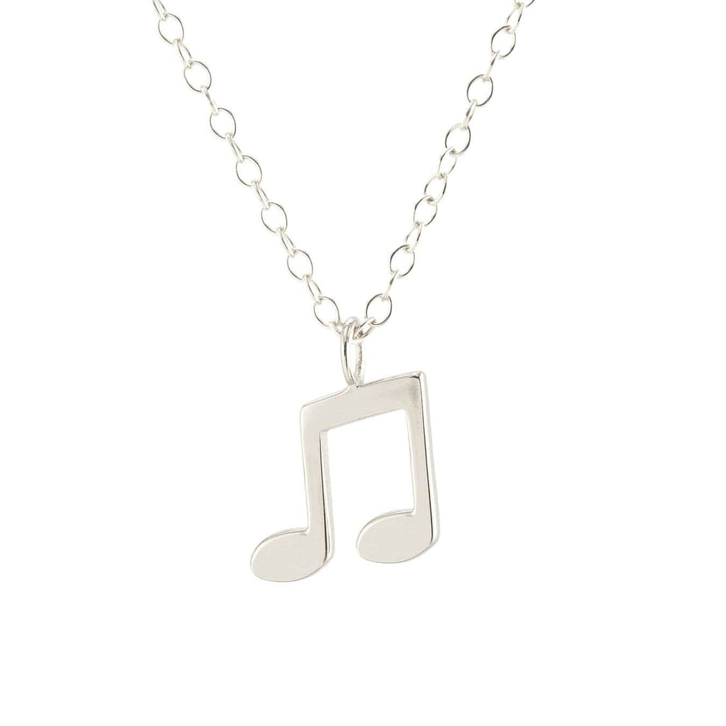 Music Note Charm Necklace