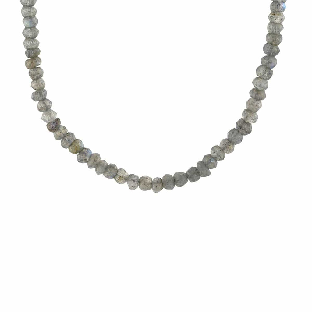 Labradorite Faceted Gemstone Beaded Necklace