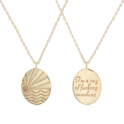 Ray of Sunshine Charm Necklace 18K Gold Vermeil