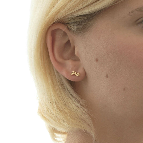 Grit Stud Earrings