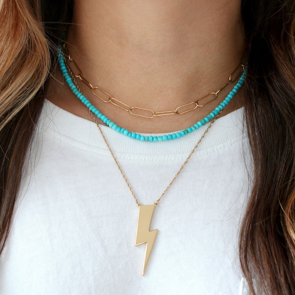 Large Lightning Bolt Pendant