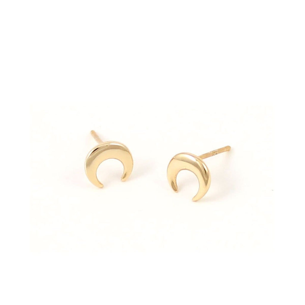 Naja Crescent Stud Earrings