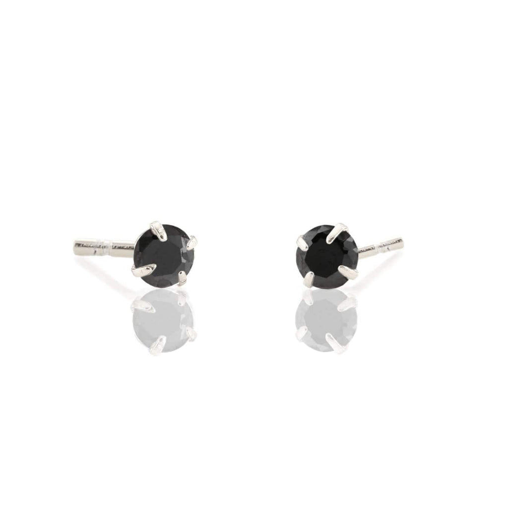 Jet Stud Earrings