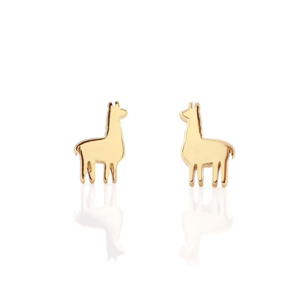 Llama Stud Earrings