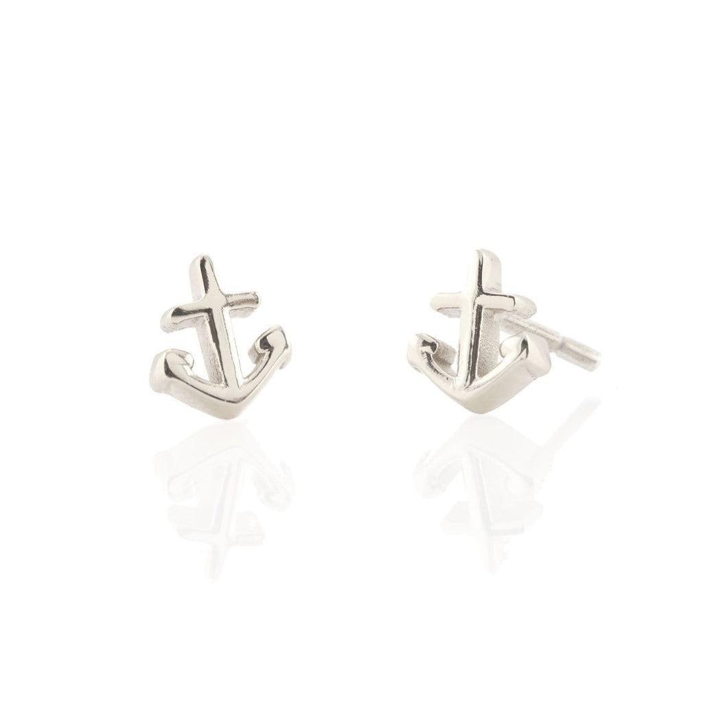 Anchor Stud Earrings