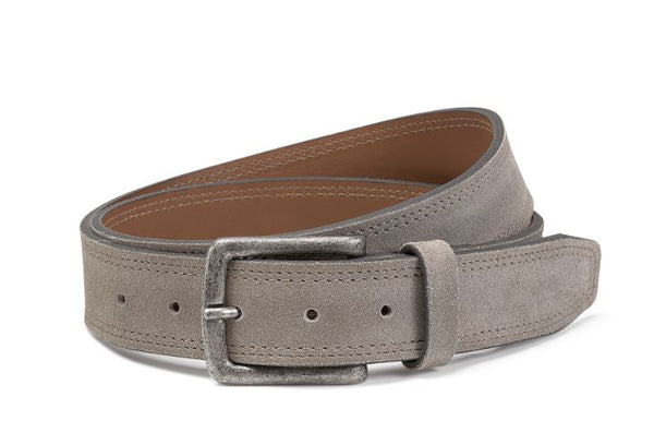 Trask Gray English Suede Walden Belt