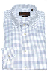 Serica Classic Non-Iron Dress Shirt- Navy Box Check
