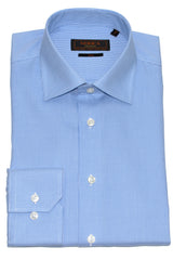 Serica Classic Non-Iron Dress Shirt- Blue Houndstooth