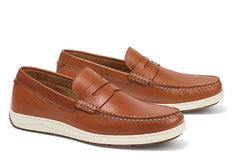 Trask Cognac Sheepskin with Contrast Stitching Sheldon
