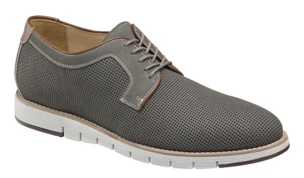 J&M 1850 Light Gray Nubuck Martell Perfed Plain Toe