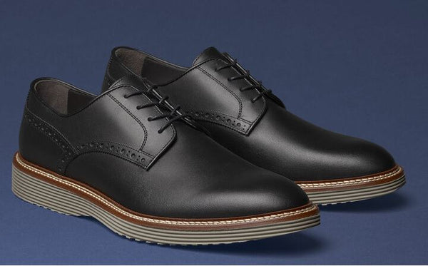 J&M Collection Black Italian Calfskin Casteel Plain Toe