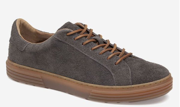 J&M 1850 Gray Water-Resistant Suede Pascal Lace-To-Toe