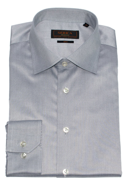 Serica Classic Non-Iron Dress Shirt - Silver