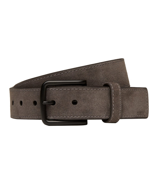 Lejon Grey Falcon Italian Suede Leather Belt