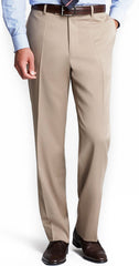 Ballin Serge 100% Wool Flat Front Dunhill Traditional Fit Trouser