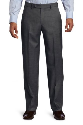 Ballin Sharkskin 100% Wool Flat Front Dunhill Traditional Fit Trouser