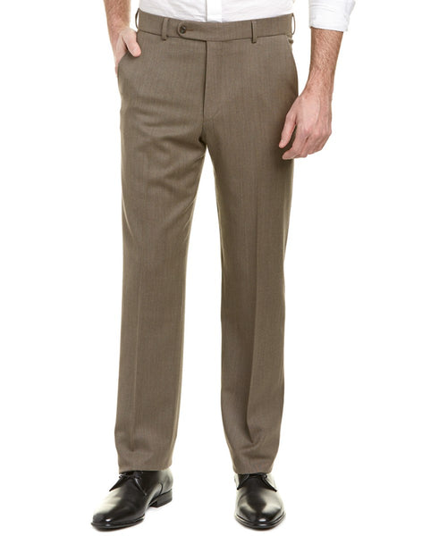 Ballin Travel Twill 100% Wool Flat Front Dunhill Traditional Fit Trouser