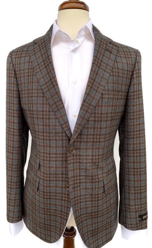 Ibiza Teal/ Brown Check Sport Coat