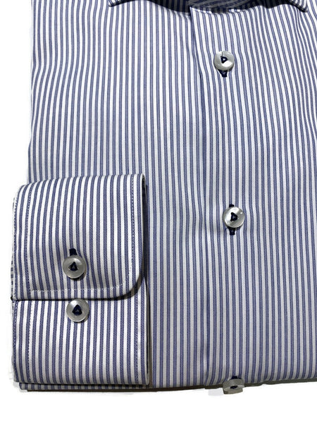 Blu Navy Bangle Stripe Dress Shirt