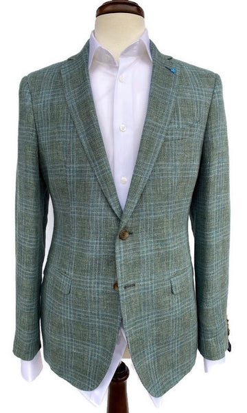 BluJacket Green/ Blue Basketweave Sport Coat