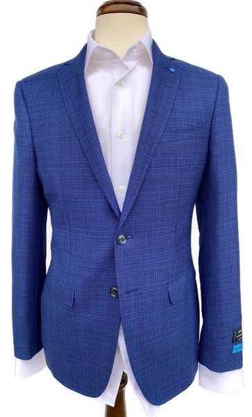 BluJacket Blue/ Brown Basketweave Sport Coat