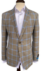 BluJacket Natural Windowpane Basketweave Sport Coat