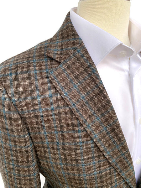 Ibiza Teal/ Brown Check Sportcoat