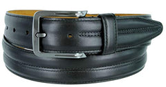Lejon Center Club Black Full Grain Aniline Steer Hide Belt