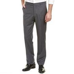 Ballin Sharkskin 100% Wool Flat Front Soho Modern Fit Trouser