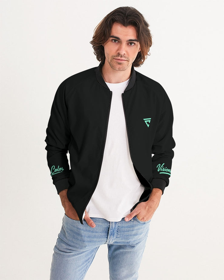 Aqua Menthe (Men's Bomber Jacket)