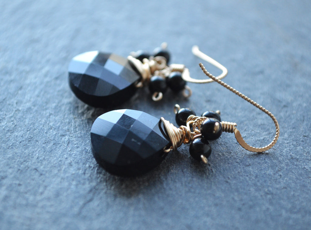 Elaine Earrings - Black