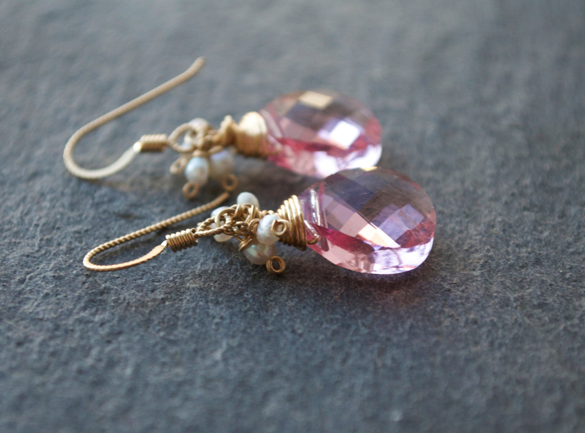 Elaine Earrings - Rose