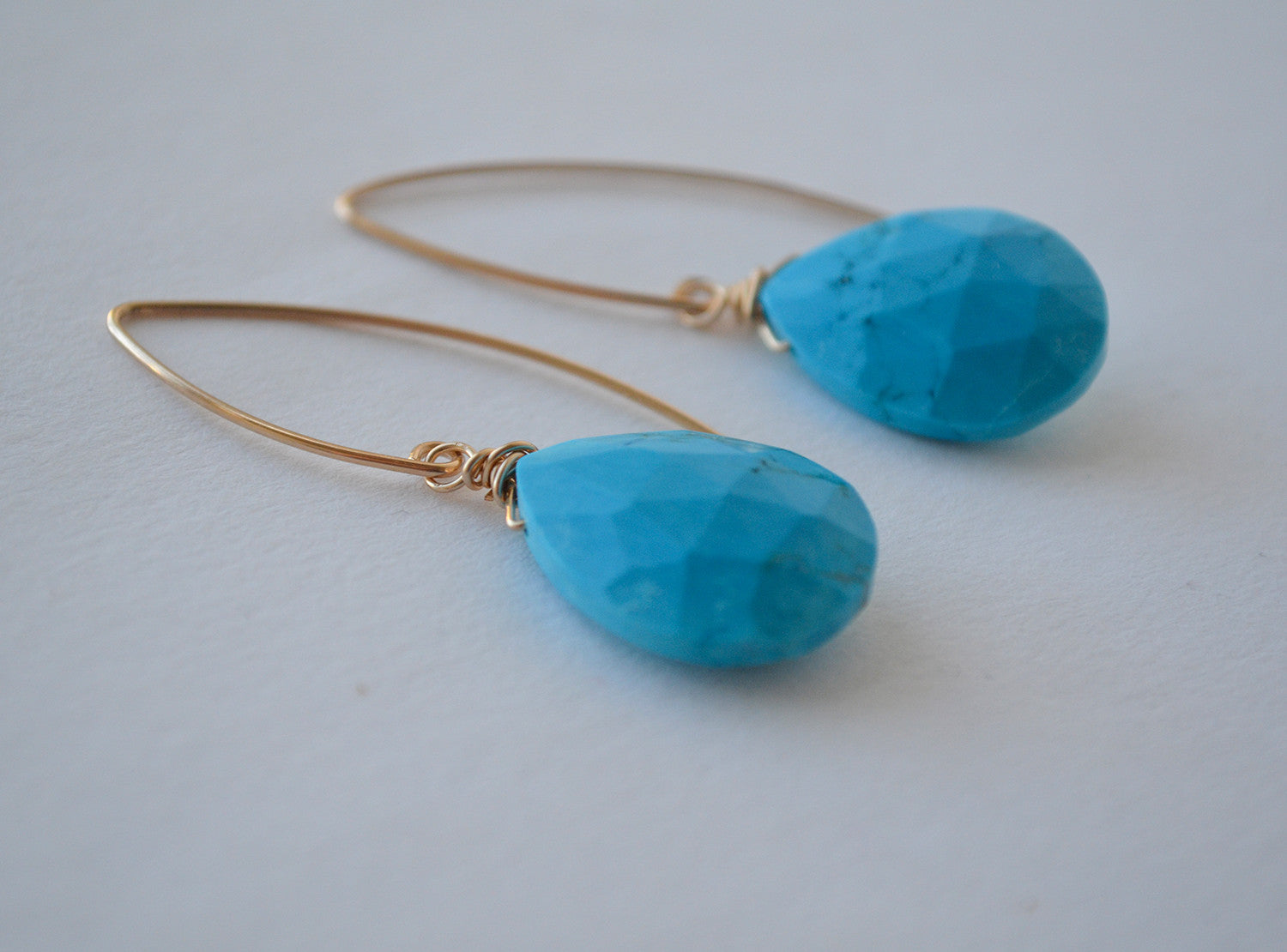 Almond Earrings - Turquoise
