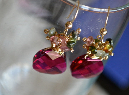 Elaine Earrings - Tourmaline