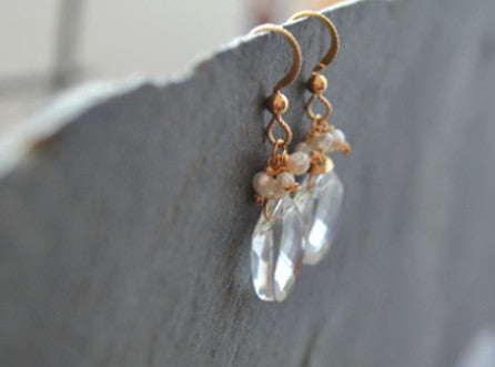 Elaine Earrings - Crystal