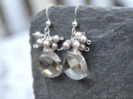 Elaine Earrings - Grey Shadow
