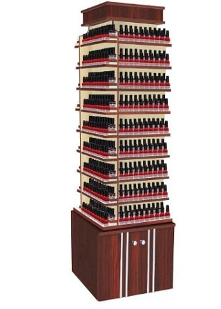 MAYAKOBA AVON I NAIL POLISH RACK CENTER WITH 360 SWIVEL