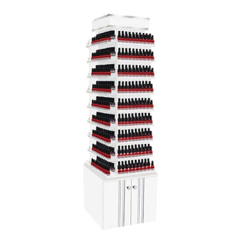 MAYAKOBA SONOMA NAIL POLISH CENTER WITH 360 DEGREE SWIVEL (DOUBLE SHELVES)