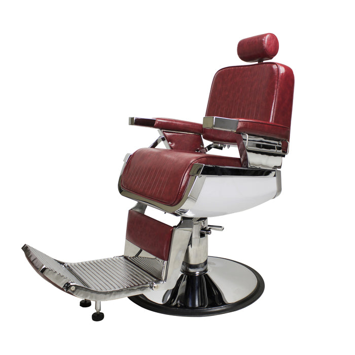 BERKELEY LINCOLN BARBER CHAIR - CRIMSON
