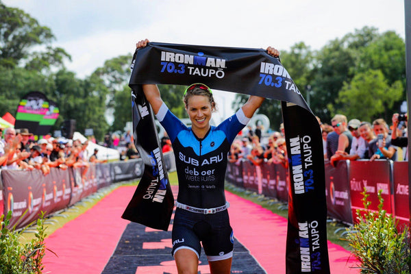 deboer wetsuits team athlete Hannah Wells talks about training for an Ironman 70.3 during lockdown